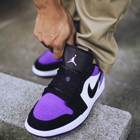 Air Jordan 1 Low Court Purple 18