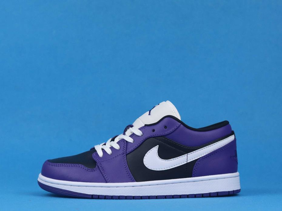 Air Jordan 1 Low Court Purple Black 1