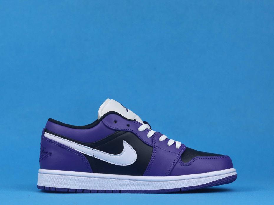 Air Jordan 1 Low Court Purple Black 2