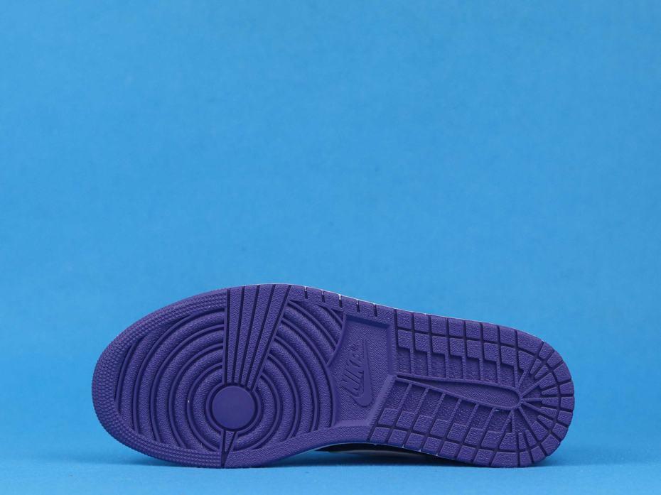 Air Jordan 1 Low Court Purple Black 3