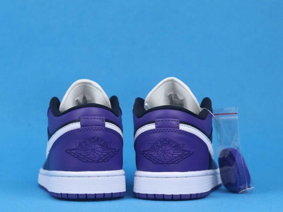 Air Jordan 1 Low Court Purple Black 4