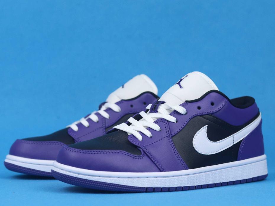 Air Jordan 1 Low Court Purple Black 5