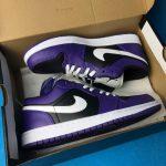 Air Jordan 1 Low Court Purple Black 6