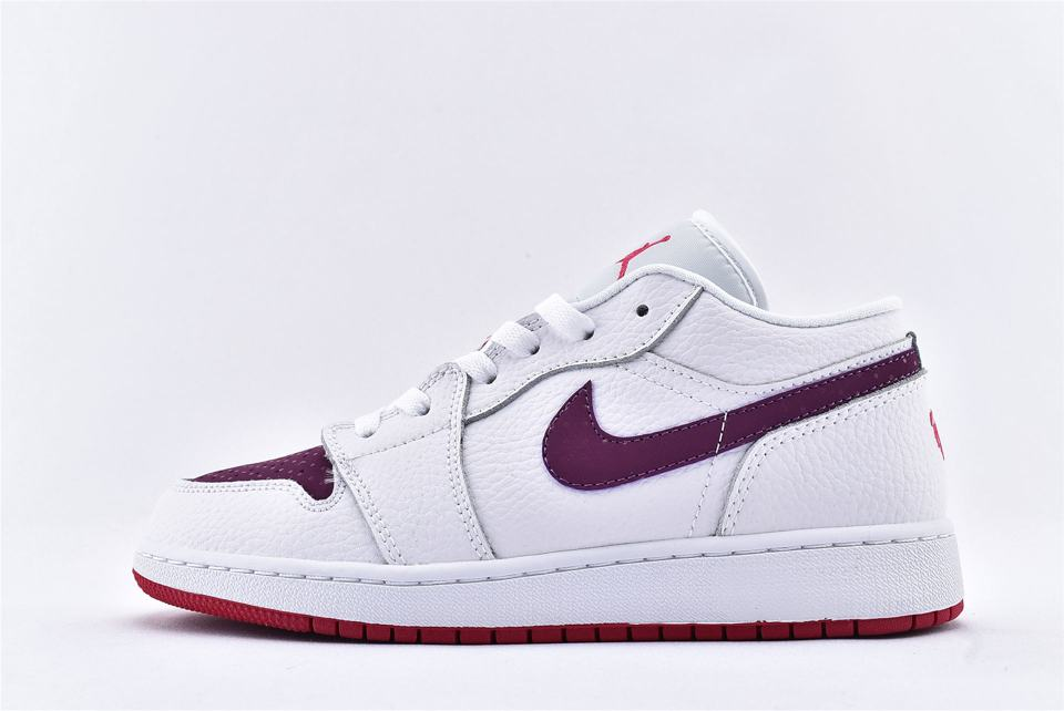Air Jordan 1 Low GS White Berry 1