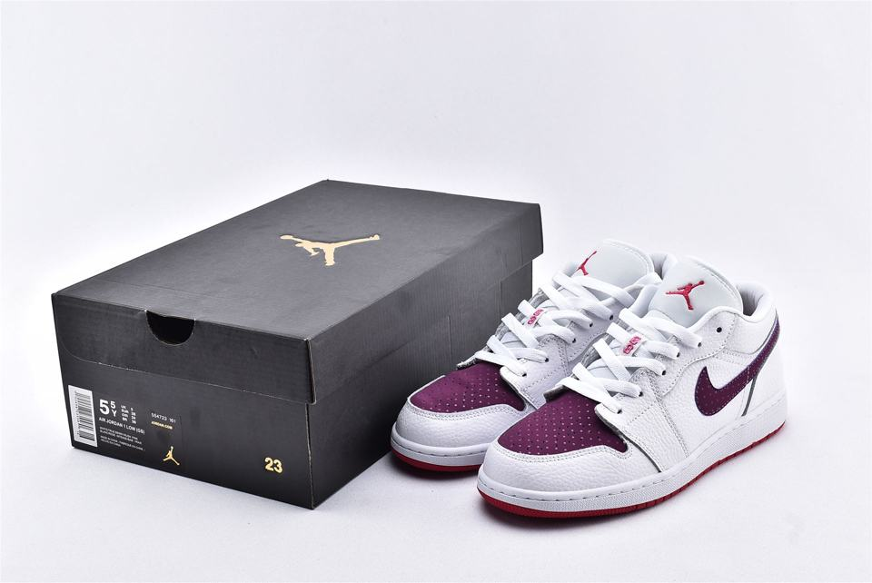 Air Jordan 1 Low GS White Berry 10