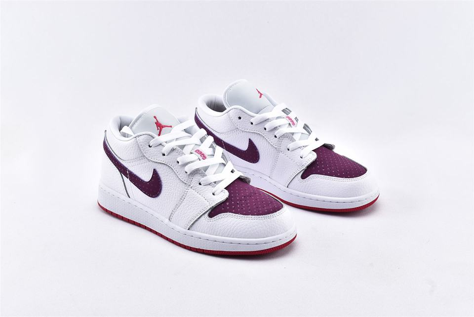 Air Jordan 1 Low GS White Berry 2
