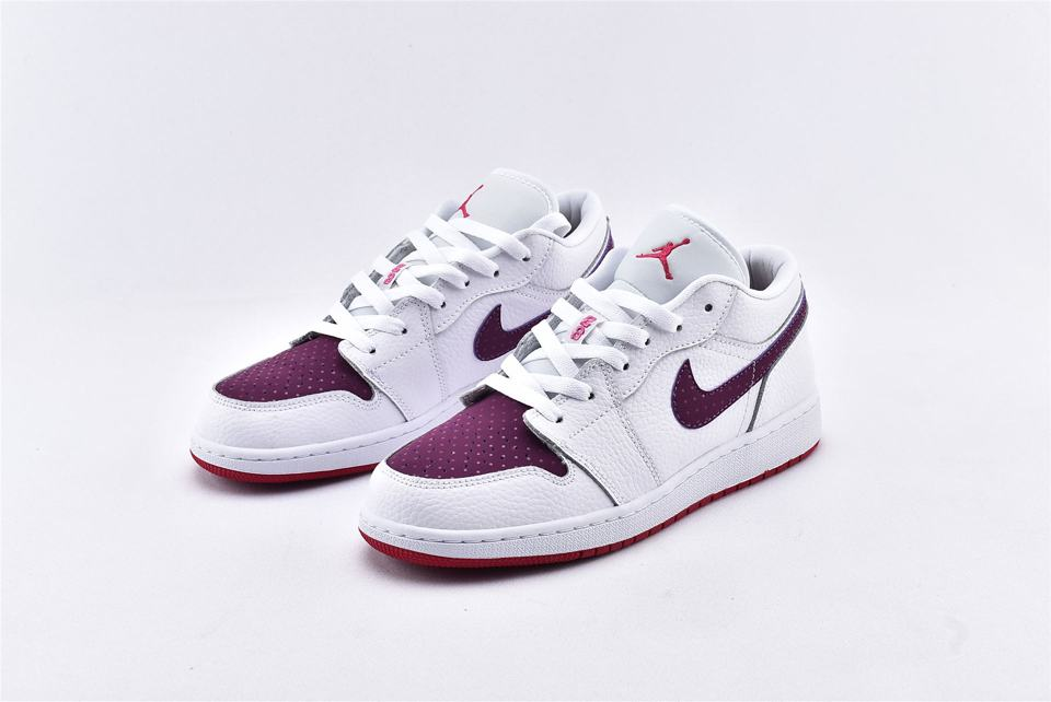 Air Jordan 1 Low GS White Berry 5