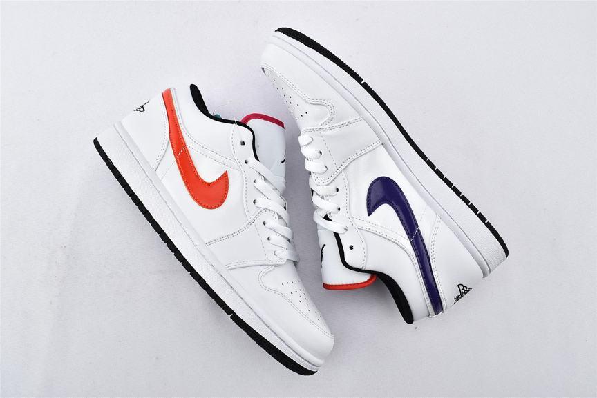 Air Jordan 1 Low Multi Color Swoosh 6