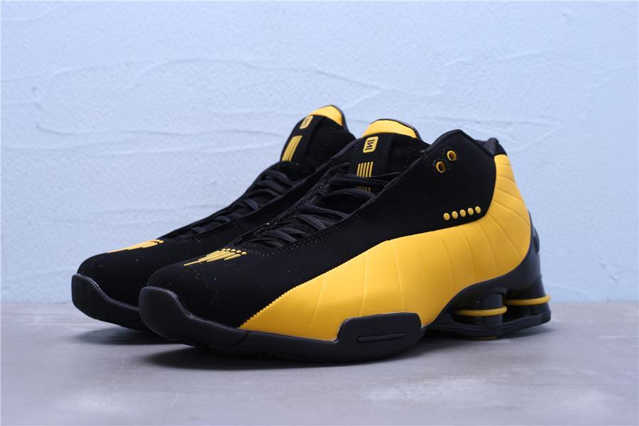 Nike Shox BB4 Black University Gold 1