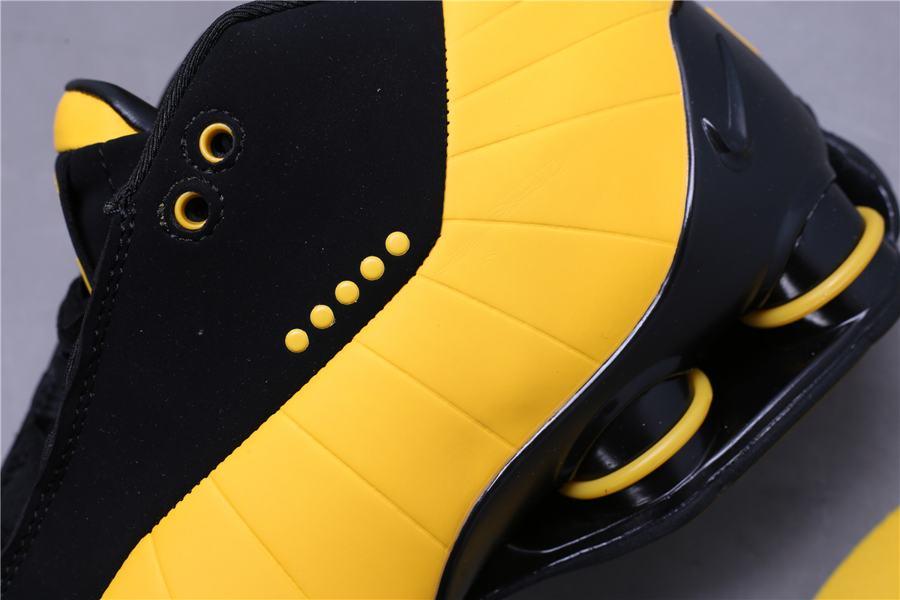 Nike Shox BB4 Black University Gold 11
