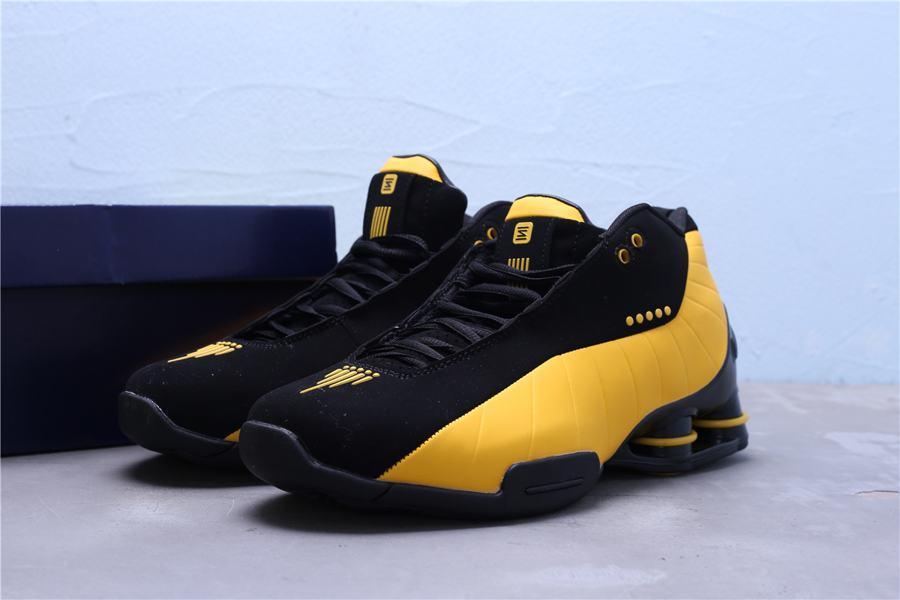 Nike Shox BB4 Black University Gold 13