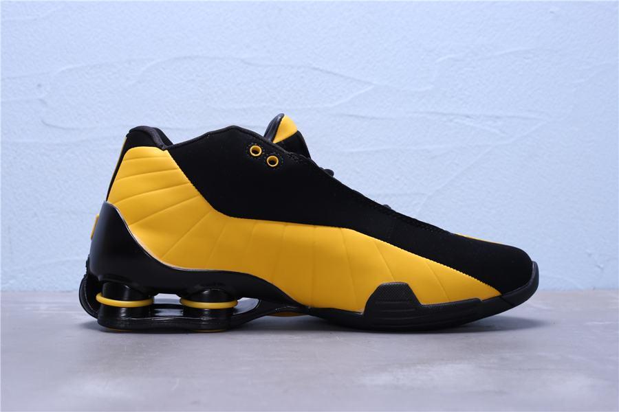 Nike Shox BB4 Black University Gold 5