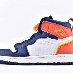 Nike Wmns Air Jordan 1 High Zip Blue Void Citron 1