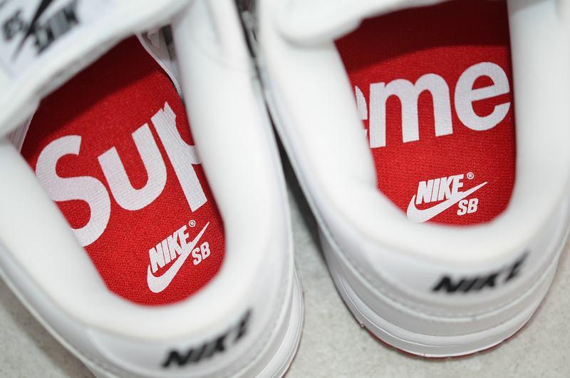 Supreme x Nike Dunk SB Low Varsity Red 11