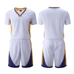 2020 Warriors White Custom Uniform