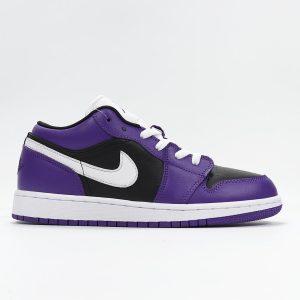 Air Jordan 1 Low GS Black Court Purple 1