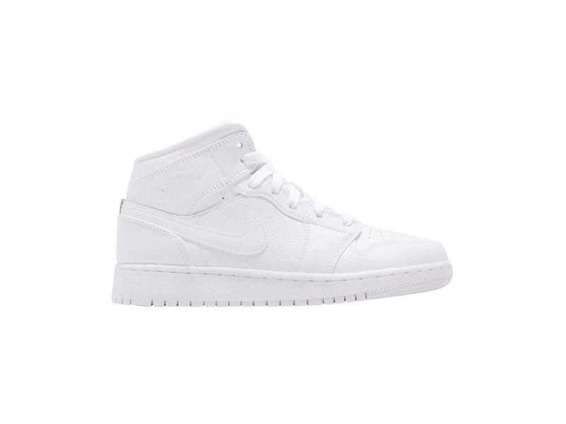 Air Jordan 1 Mid BG Triple White