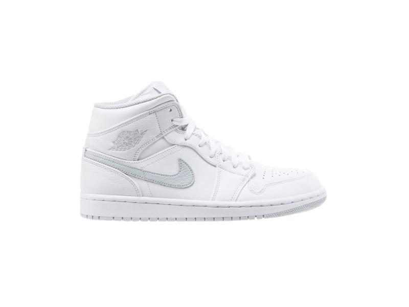 Air Jordan 1 Mid BG White Platinum