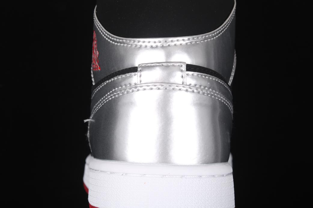 Air Jordan 1 Mid Black Metallic Silver Johnny Kilroy 11