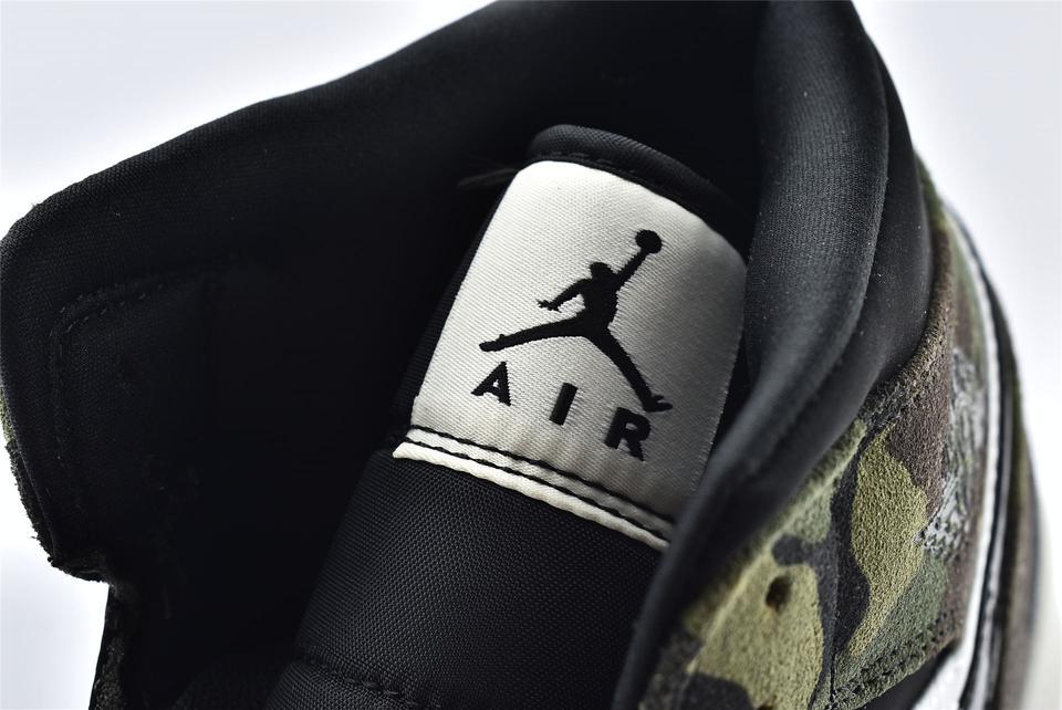 Air Jordan 1 Mid Camo 2020 16
