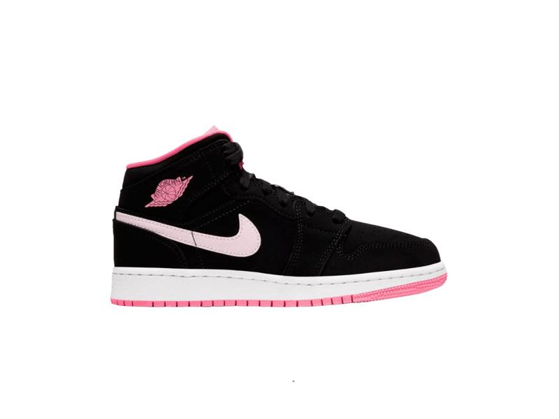 Air Jordan 1 Mid GS Black Digital Pink