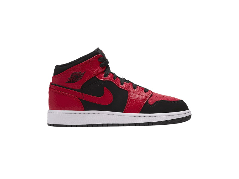 Air Jordan 1 Mid GS Black Gym Red