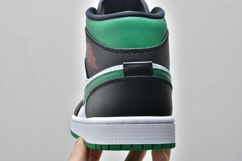 Air Jordan 1 Mid GS Black Pine Green 12
