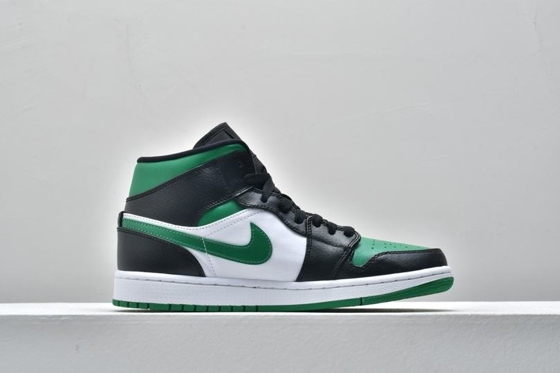 Air Jordan 1 Mid GS Black Pine Green 2