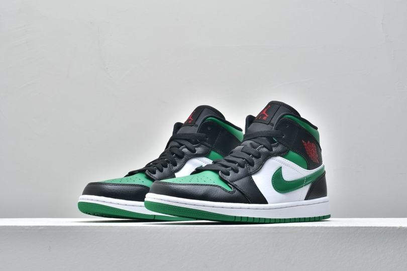 Air Jordan 1 Mid GS Black Pine Green 4