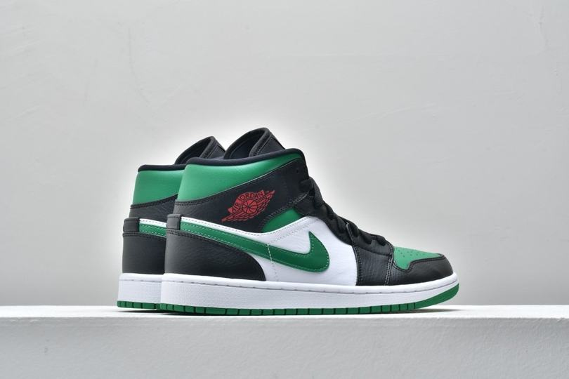 Air Jordan 1 Mid GS Black Pine Green 6