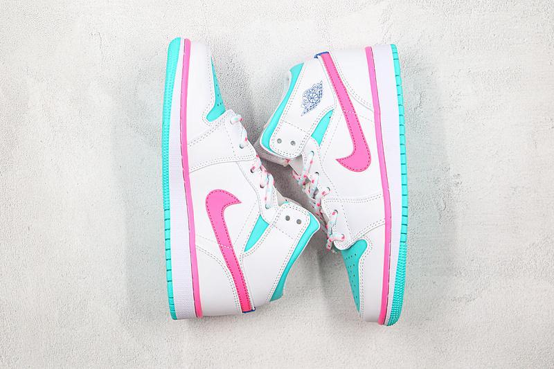Air Jordan 1 Mid GS Digital Pink 7