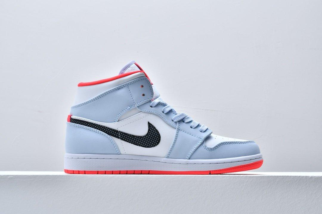 Air Jordan 1 Mid GS Half Blue 2