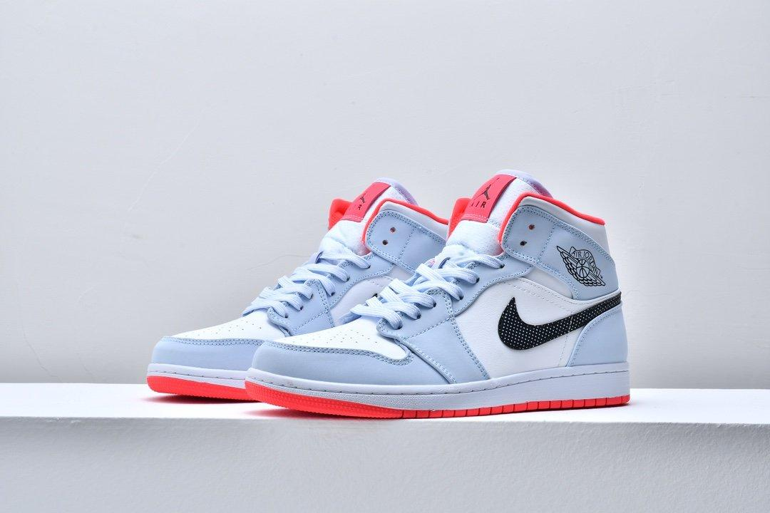 Air Jordan 1 Mid GS Half Blue 4