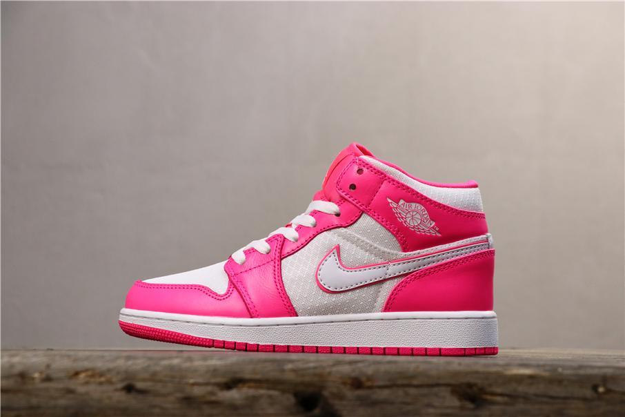 Air Jordan 1 Mid GS Hyper Pink 1