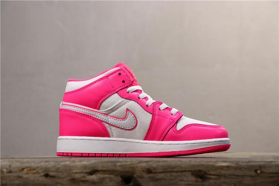 Air Jordan 1 Mid GS Hyper Pink 2