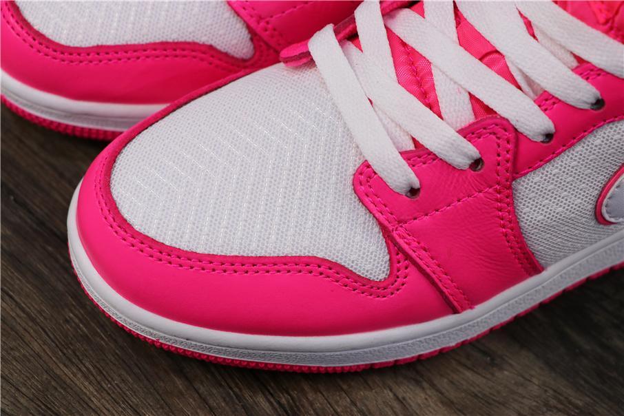 Air Jordan 1 Mid GS Hyper Pink 4