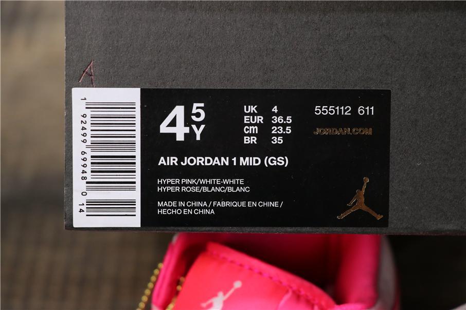 Air Jordan 1 Mid GS Hyper Pink 6