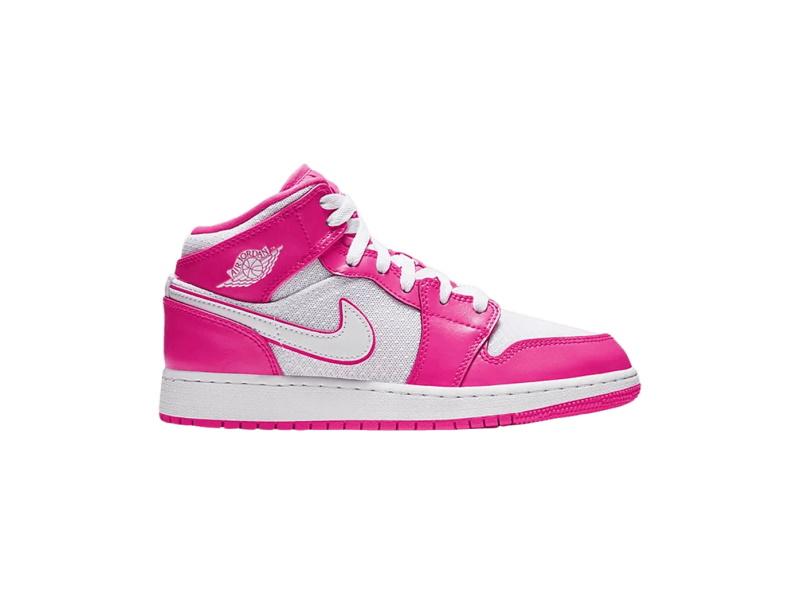 Air Jordan 1 Mid GS Hyper Pink