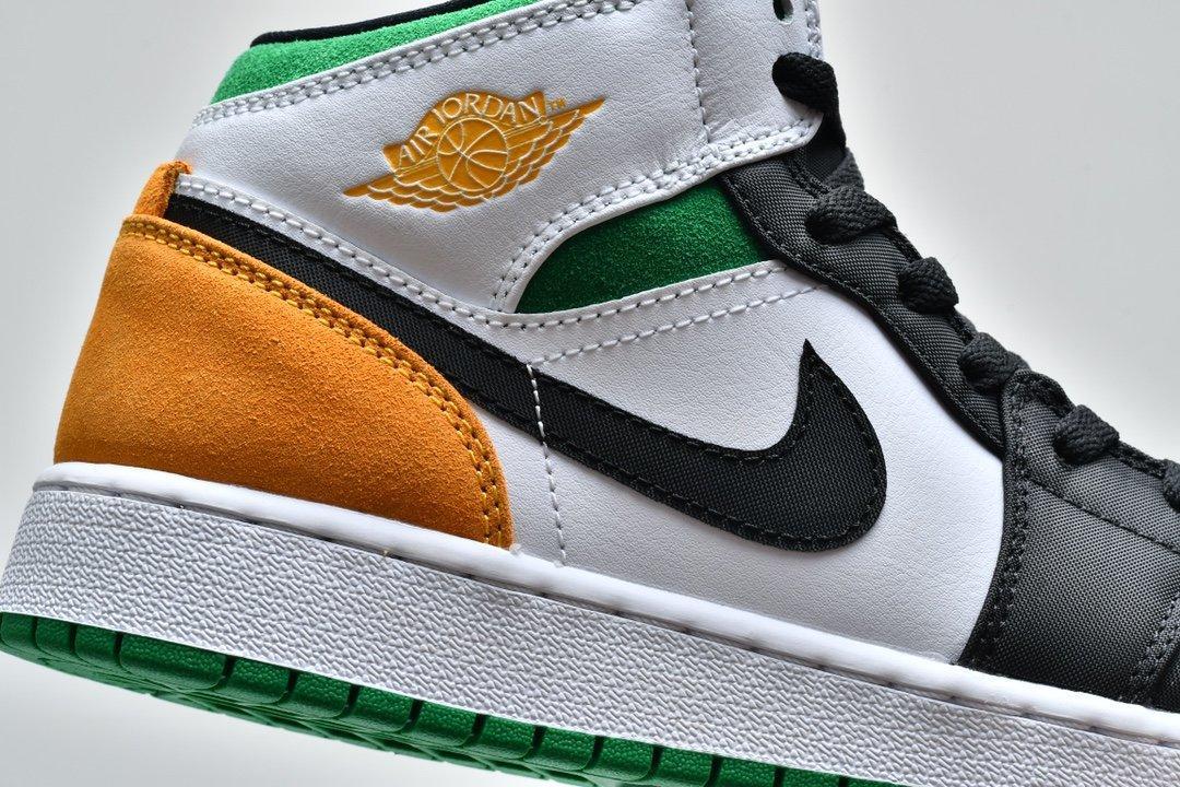 Air Jordan 1 Mid GS Lucky Green Laser Orange 10