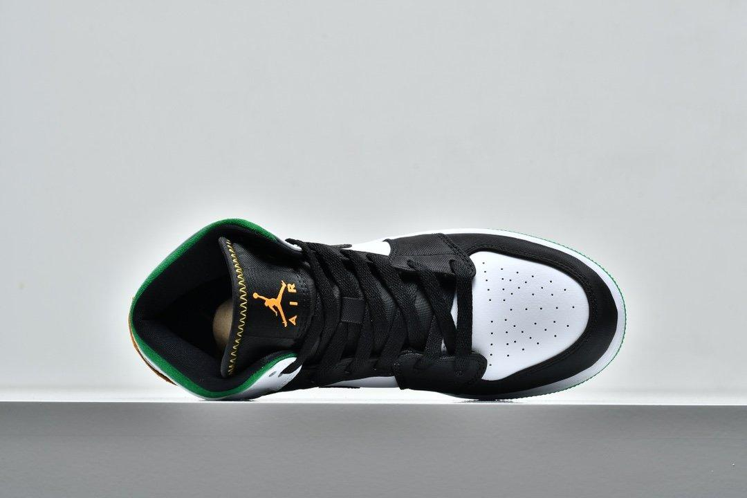 Air Jordan 1 Mid GS Lucky Green Laser Orange 3