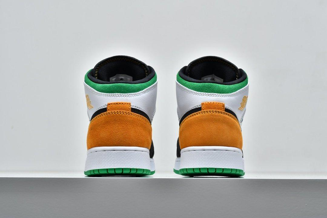 Air Jordan 1 Mid GS Lucky Green Laser Orange 6