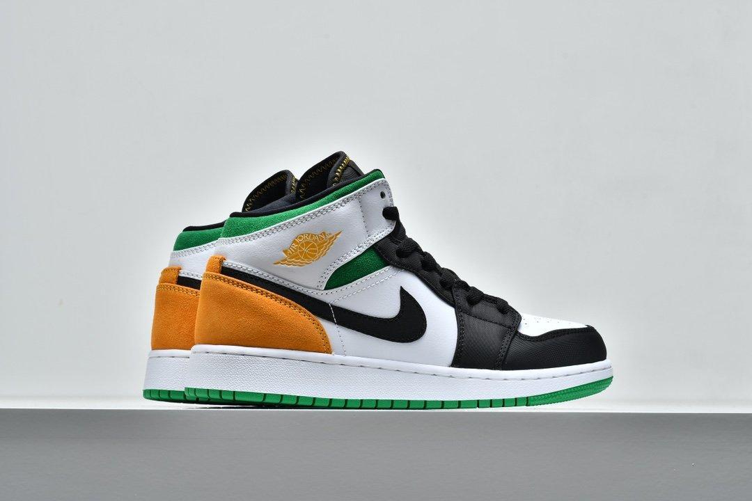 Air Jordan 1 Mid GS Lucky Green Laser Orange 7