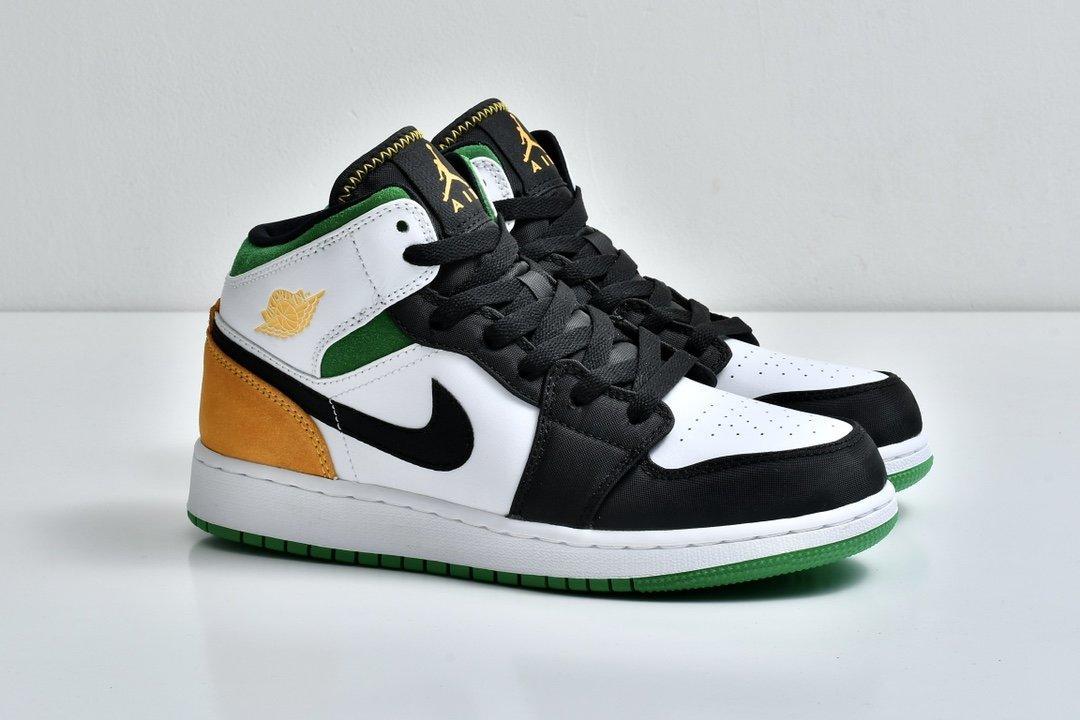 Air Jordan 1 Mid GS Lucky Green Laser Orange 8