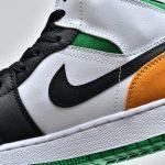 Air Jordan 1 Mid GS Lucky Green Laser Orange 9