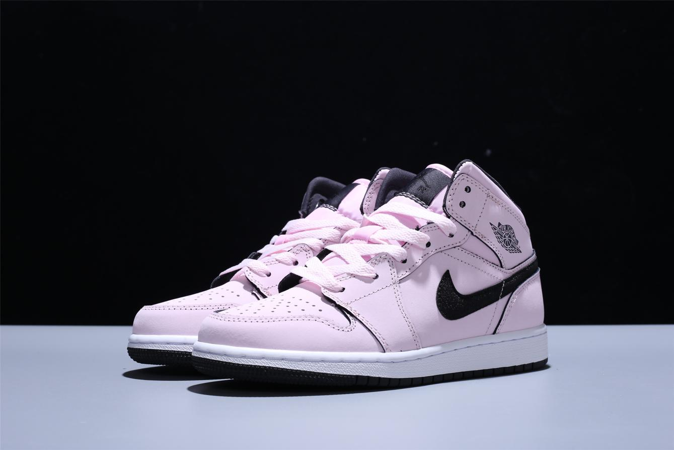Air Jordan 1 Mid GS Pink Foam 1