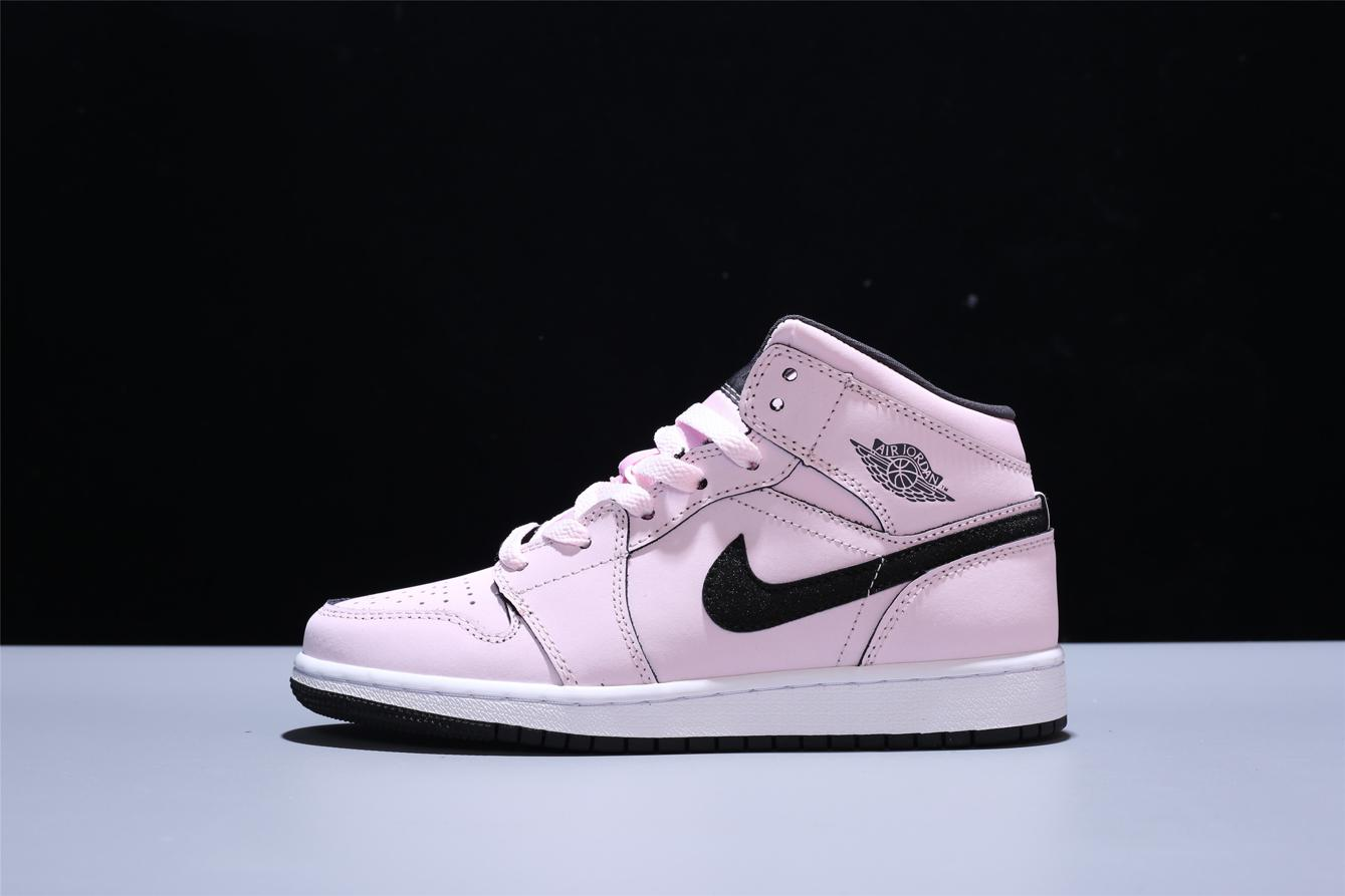 Air Jordan 1 Mid GS Pink Foam 2