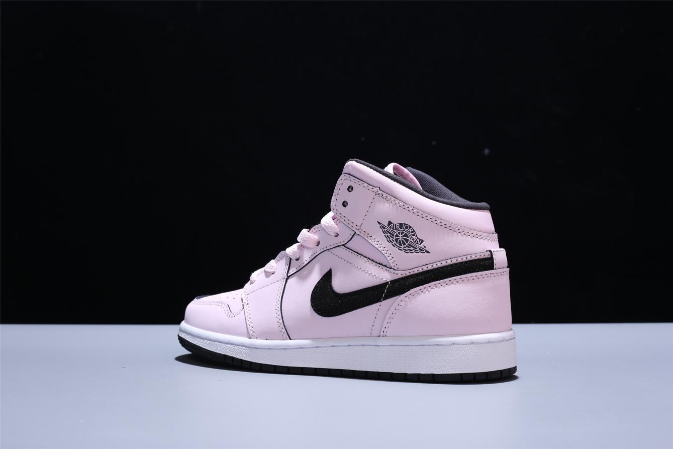 Air Jordan 1 Mid GS Pink Foam 4