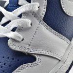 Air Jordan 1 Mid GS White Deep Royal Blue 11