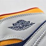 Air Jordan 1 Mid GS White Deep Royal Blue 13