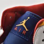 Air Jordan 1 Mid GS White Deep Royal Blue 17